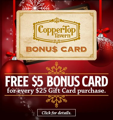 CopperTop $5 Bonus Card