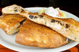 Chicken Quesadilla Calzone
