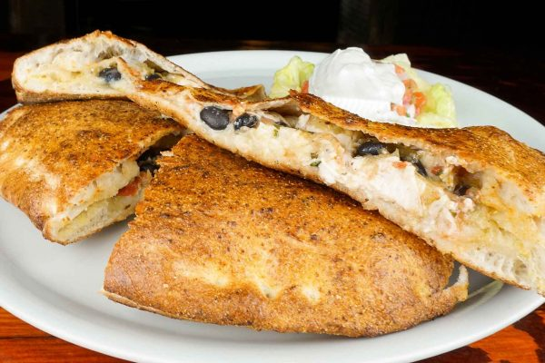 Chicken Quesadilla Calzone
