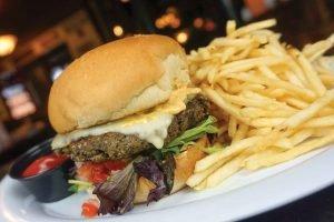 Homemade Veggie Cheeseburger