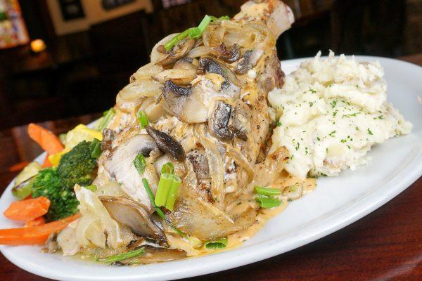 Grilled Tomahawk Pork Chop